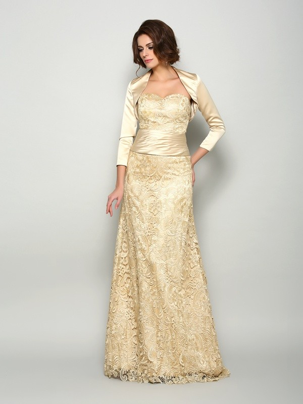 A-Line/Princess Sweetheart Sleeveless Long Satin Mother of the Bride Dresses