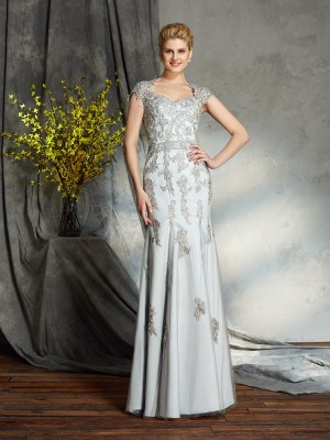 Sheath/Column Sweetheart Sleeveless Satin Floor-Length Mother Of The Bride Dresses