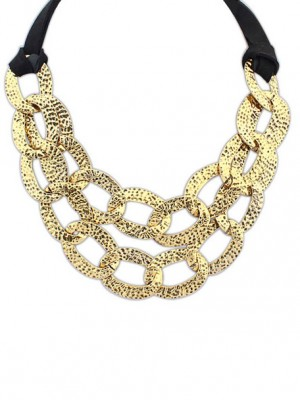 Occident Hyperbolic Metallic Hollow Personality Necklace