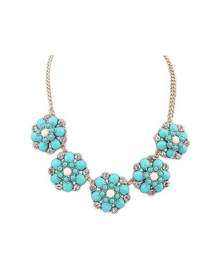 Occident New Sweet Flowers Simple Hot Sale Necklace