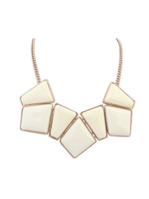Occident Geometry Blocks All-match Necklace