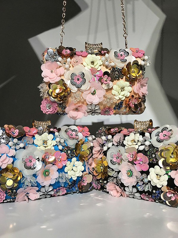 Trending Evening/Party Handbags With 3D Flowers