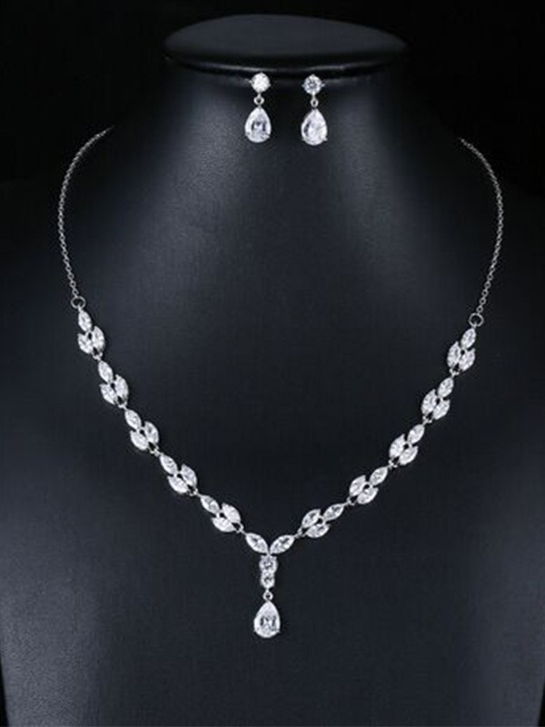Wedding Occident Fashion Zircon Bridal Jewelry Set