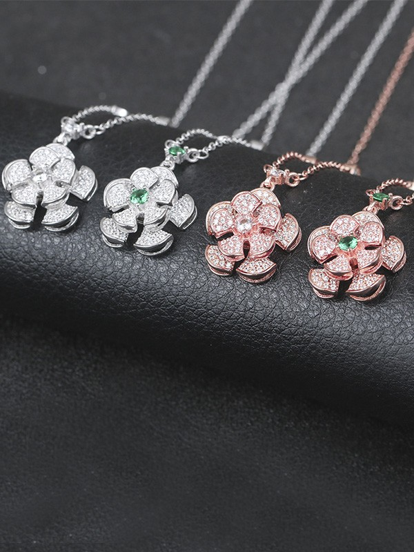 Women's Gorgeous S925 Silver Hot Sale Necklaces