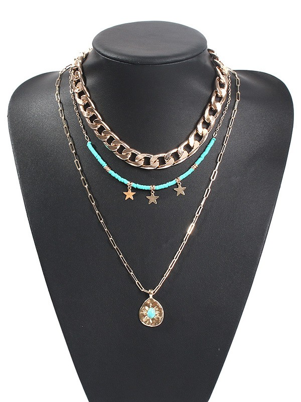 Pretty Alloy With Star Necklaces For Ladies