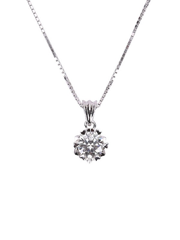 Ladies's Simple S925 Silver Necklaces