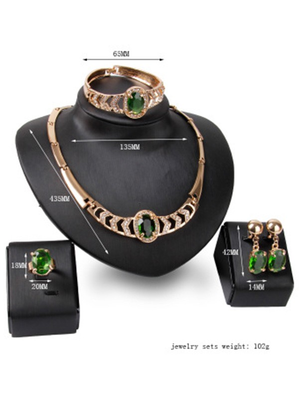 Luxurious Alloy Hot Sale Women's Jewelry Set