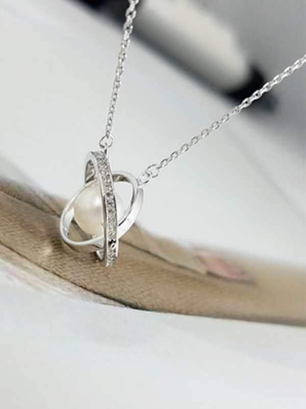 Elegant Ladies's S925 Silver Necklaces