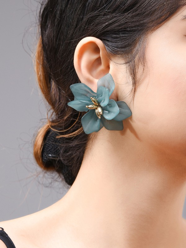 Fashion Acrylic With Flowers Women's Earrings