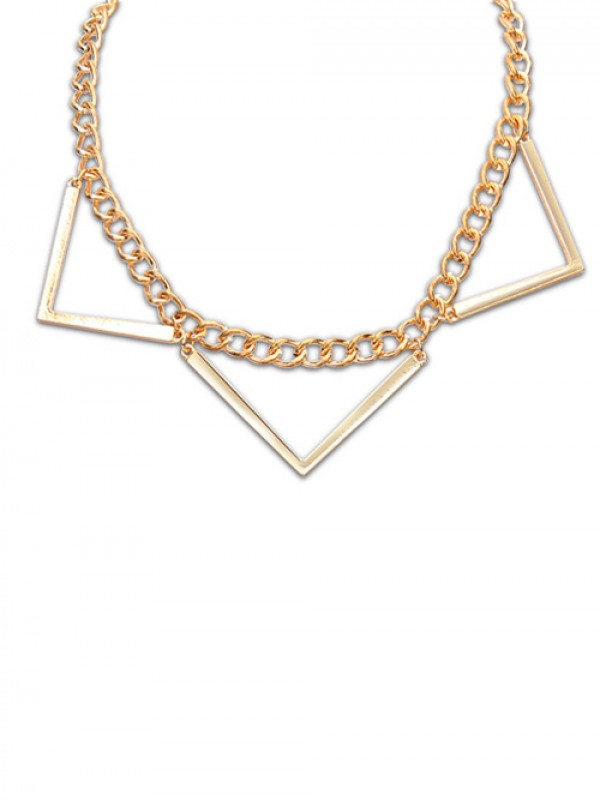 Occident Hyperbolic Punk Triangle Geometry Hot Sale Necklace