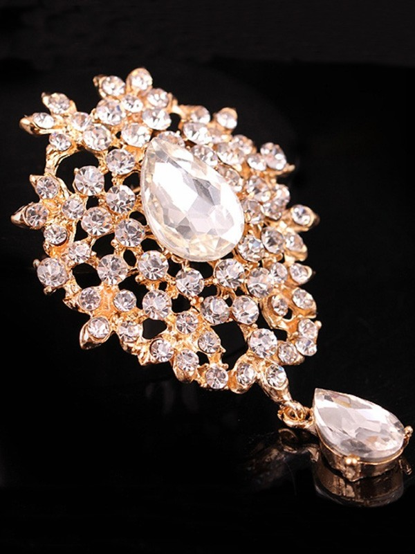 Womens Charming Alloy With Rhinestone Brooch