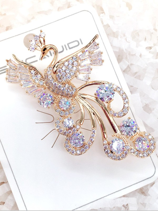 Fancy Alloy With Zircon Womens Brooch