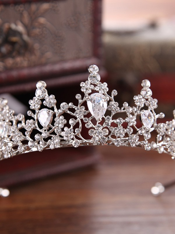 Unique Czech Alloy Wedding Headpieces