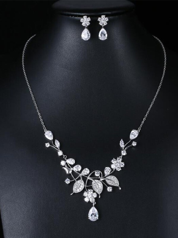 Wedding Occident Zircon Fashion Bridal Jewelry Set
