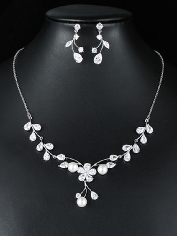 Wedding Fashion Occident Zircon Bridal Jewelry Set