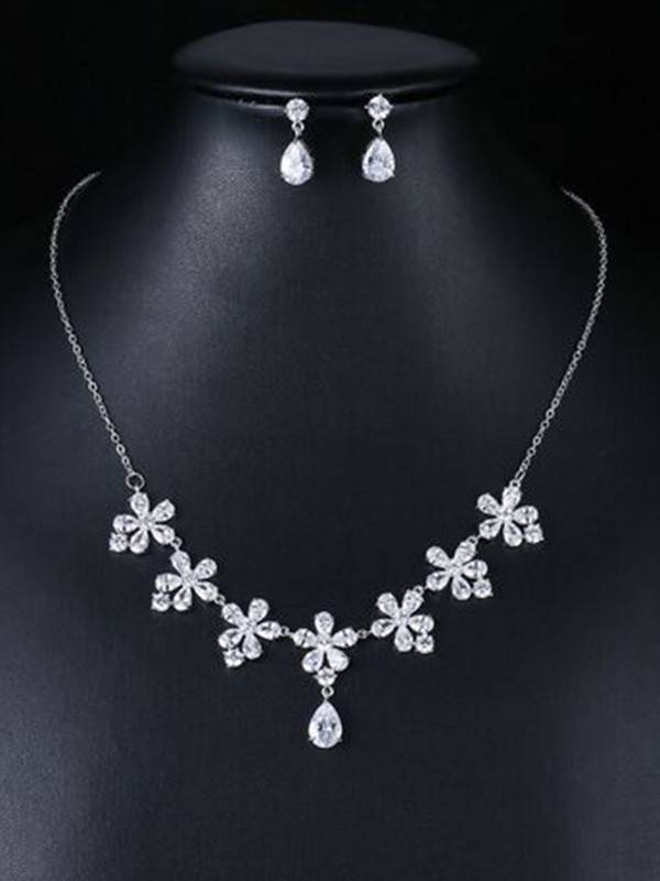 Wedding Occident Zircon Bridal Fashion Jewelry Set