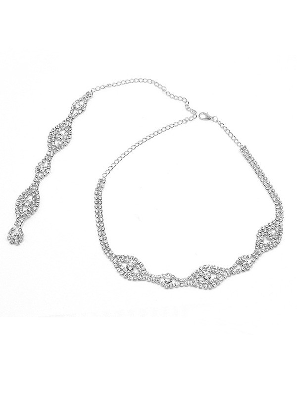 Wedding Elegant Crystal Necklaces For Bridal