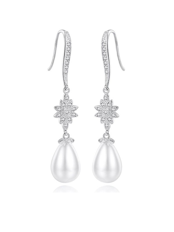 Fancy Imitation Pearls Earrings for Ladies