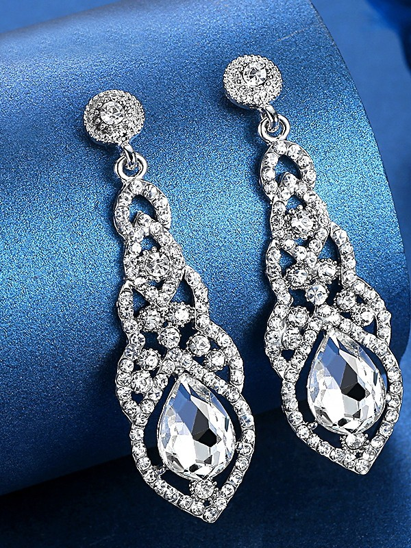 Hot Sale Ladies's Luxurious Crystal Earrings