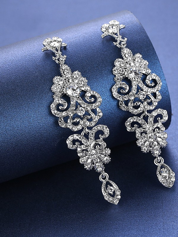 Charming Rhinestone Wedding Bridal Earrings