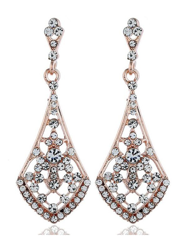 Hot Sale Vintage Alloy With Rhinestone Earrings