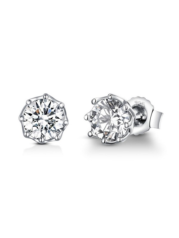 Brilliant S925 Silver With Cubic Zirconia Womens Earrings