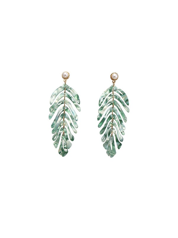 Hot Sale Fancy Alloy With Leaf Earrings