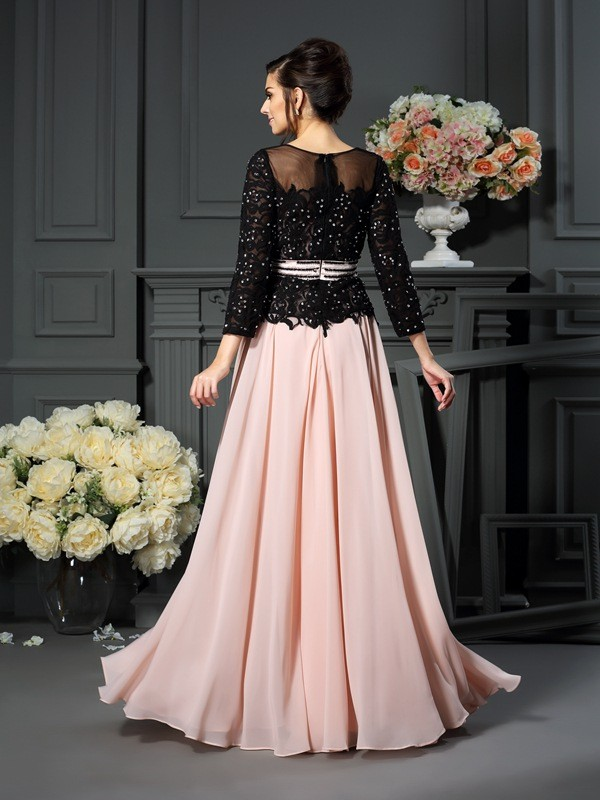 A-Line/Princess Sweetheart Sleeveless Long Chiffon Mother of the Bride Dresses