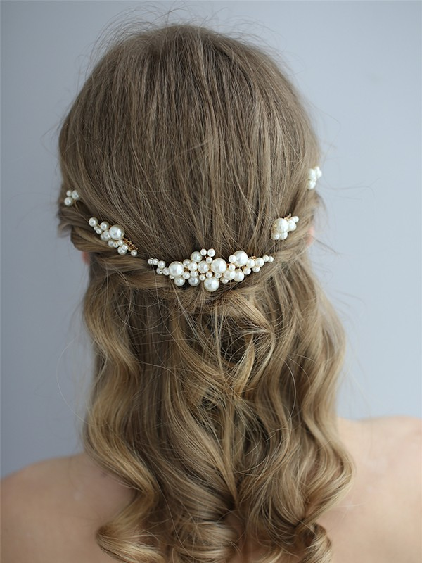 Unique Pearls Bridal Headpieces