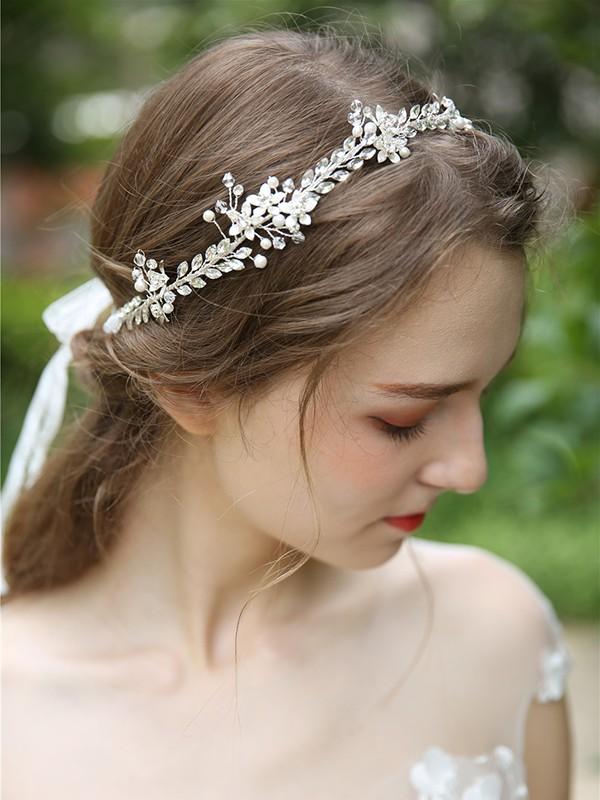 Simple Crystal Bridal Headpieces