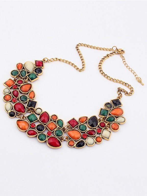 Occident Retro Luxurious Geometry Stitching Stylish All-match Hot Sale Necklace