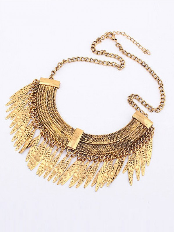 Korean version Retro Arcuated Willow pattern Water Drop Hot Sale Necklace
