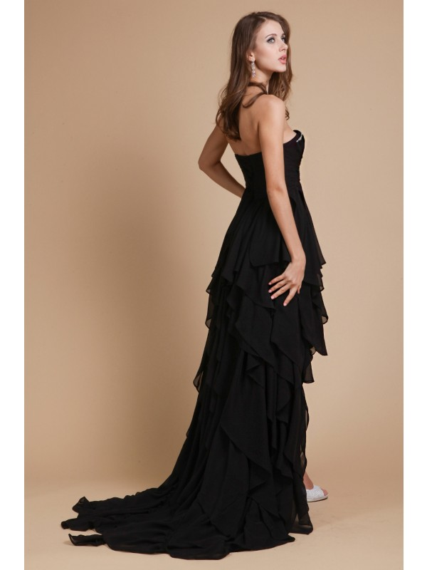 A-Line/Princess Sweetheart Sleeveless Beading Chiffon Dresses