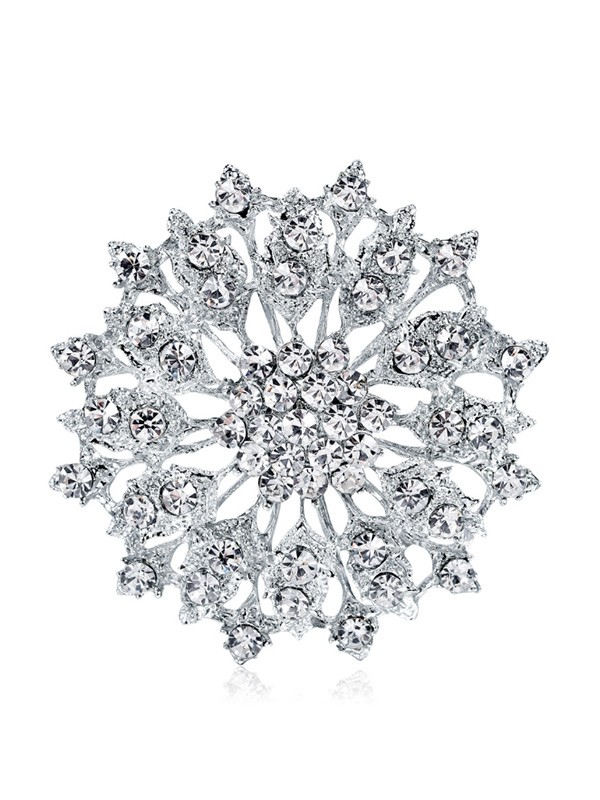 Trending Alloy With Rhinestone Womens Brooch