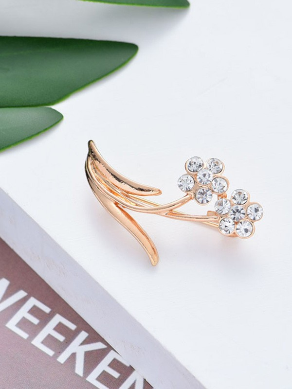 Chic Alloy With Rhinestone Womens Brooch